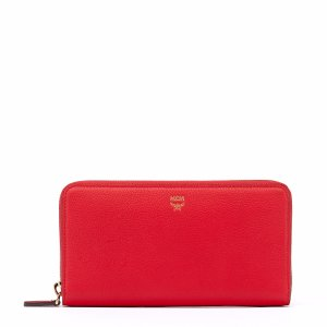 Large Milla Zip Around Wallet in Ruby Red by MCM