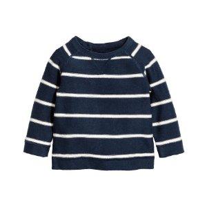 Fine-knit Sweater | Dark blue/striped | Kids | H&M US