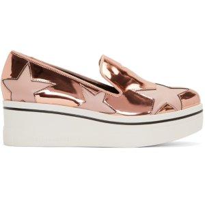 Stella McCartney: Copper Star Platform Binx Sneakers | SSENSE