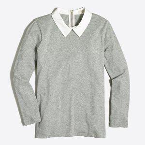Shirt-collar T-shirt : Long Sleeve | J.Crew Factory