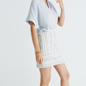 Gamine Mini Skirt in Stripe Play