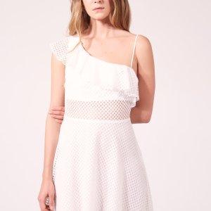 Asymmetric Dress In Textured Fabric - Dresses - Sandro-paris.com