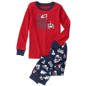 Toddler Boys True Red Dig You 2-Piece Gymmies� by Gymboree