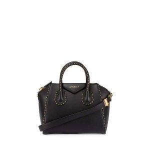 Givenchy Antigona Small Sugar Satchel Bag, Black