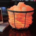 WBM Himalayan Glow 1301B Natural Air Purifying Himalayan Salt Lamp with Salt Chunks