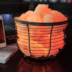 $16.44(Orig $49.95)WBM Himalayan Glow 1301B Natural Air Purifying Himalayan Salt Lamp with Salt Chunks