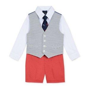 Nautica 4-Pc. Shirt, Vest, Shorts & Tie Set, Toddler & Little Boys (2T-4T) - Sale & Clearance - Kids & Baby - Macy's