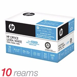 10 Ream Just $25Office Depot Flash Sale HP Ultra White Paper Sale