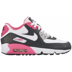 Nike Air Max 90 - Girls' Grade School - Running - Shoes - Anthracite/White/Hyper Pink/Metallic Silver