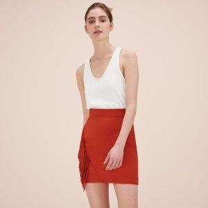 JANO Fringed short skirt - Skirts & Shorts - Maje.com