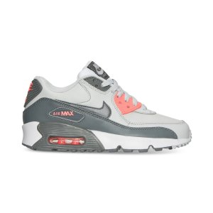 Nike Girls' Air Max 90 Leather Running Sneakers from Finish Line - Finish Line Athletic Shoes - Kids & Baby - Macy's