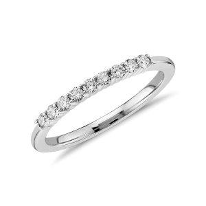 Petite Diamond Ring in 14k White Gold (1/5 ct. tw.) | Blue Nile