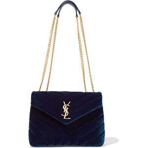 Loulou small quilted velvet shoulder bag