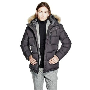 Down Puffer Jacket at Guess