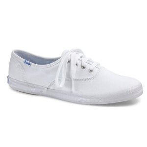 Womens Keds Champion Oxford Canvas Sneaker - White - FREE Shipping & Exchanges