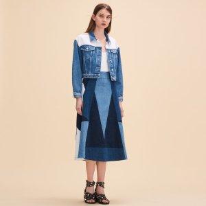 JABLA Denim flared skirt - Skirts & Shorts - Maje.com