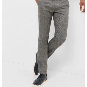 CRAMTRO Herringbone wool pants