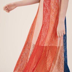 JUPITER Long skirt with lace bands - Skirts & Shorts - Maje.com