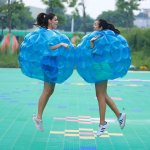 PACKGOUT Inflatable Body Bubble Ball Sumo Bumper Bopper