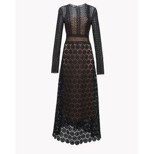 Mixed Lace Maxi Dress | Theory