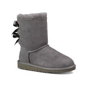 UGG® Gray Bailey Bow Boot - Little Kids & Kids | zulily