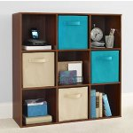 ClosetMaid 4105 Cubeicals 9-Cube Organizer, Dark Cherry
