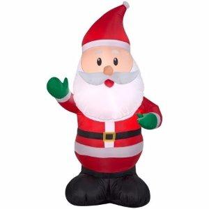 Christmas Airblown 4' Santa Inflatable - Walmart.com
