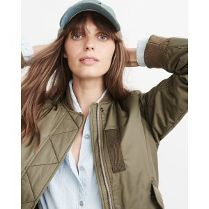 Womens MA-1 Bomber Jacket | Womens New Arrivals | Abercrombie.com