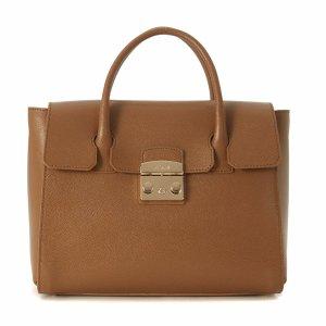 Furla - Furla Metropolis Medium Brown Leather Handbag - 851184-NOCE, Women's Totes | Italist