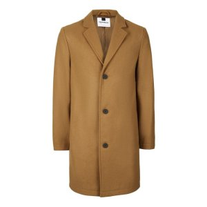Camel Wool Rich Overcoat - Coats & Jackets - Clothing