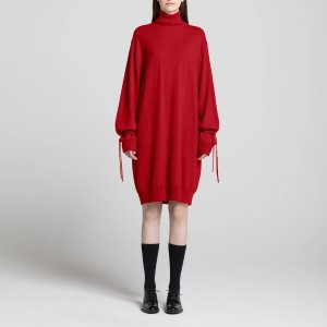 WOMEN JWA CASHMERE OVERSIZE LONG-SLEEVE KNIT DRESS