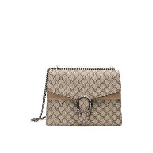 Dionysus Gg Supreme Medium Canvas Shoulder Bag by Gucci