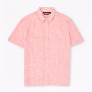 Linen Chambray Short Sleeve Shirt