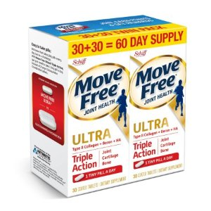 Move Free Ultra Triple Action, 30ct Twin Pack (60 tablets total) - Joint Health Supplement with Type II Collagen, Boron and HA - Walmart.com