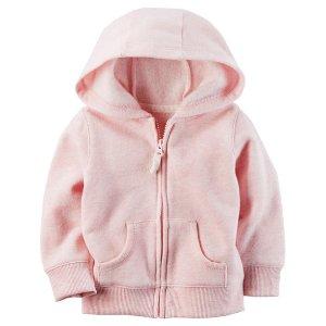 Sueded Fleece Zip-Front Hoodie