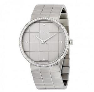 $1295(Orig $7700)DIOR La D De Silver Dial Stainless Steel Ladies Watch No. CD043113