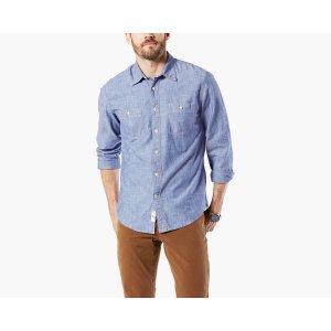 Premium Chambray Shirt, Slim Fit | Light Wash | Dockers® United States (US)