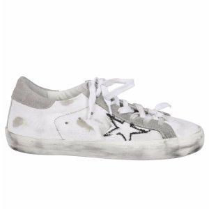 Golden Goose - Golden Goose: White Superstar Sneakers - G30WS590 B16, Women's Shoes | Italist
