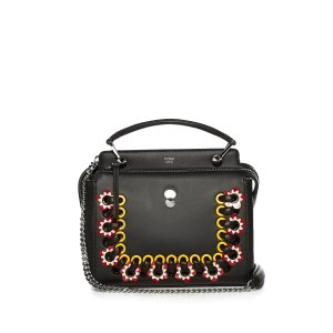 Dotcom Click whipstitch leather cross-body bag | Fendi