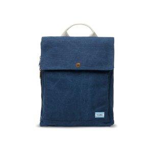 Navy Washed Canvas Trekker Backpack   TOMS®