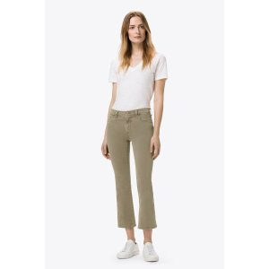 Selena Mid-Rise Crop Boot Cut in Distressed Silver Sage | J Brand