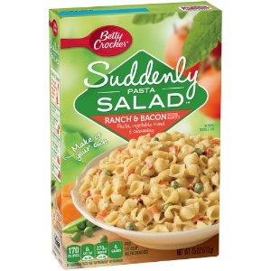 Betty Crocker Suddenly Pasta Salad, Ranch & Bacon, 7.5 Ounce   Jet.com