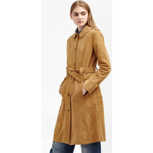 Tara Suede Belted Coat | Sale | French Connection Usa