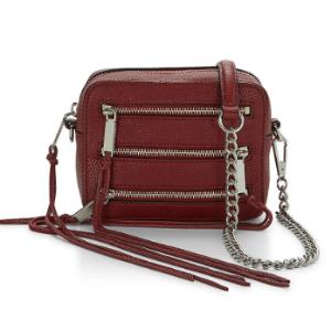 Leather Camera Bag | Black 4 Zip Moto Camera Bag | Rebecca Minkoff