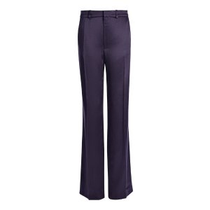 Broken Crepe Satin Fergus Trouser in Blue