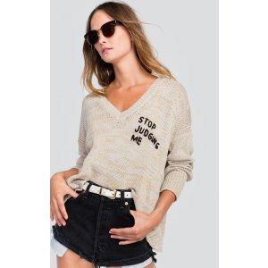 Stop Judging Me Pier Sweater