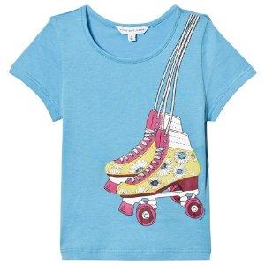Little Marc Jacobs Blue Rollerboot Print Tee | AlexandAlexa