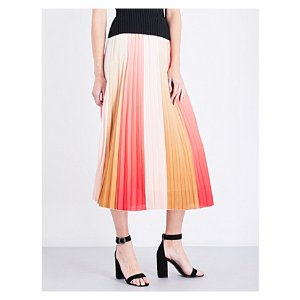 MAJE - Junin pleated chiffon skirt