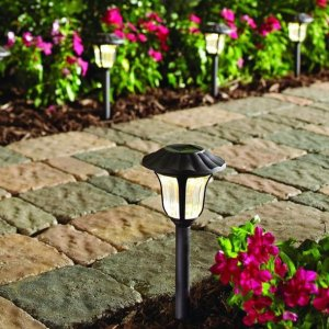 Hampton Bay Bronze Solar LED Pathway Outdoor Light (6-Pack)
