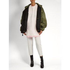 x Hanes oversized double-layer cotton T-shirt | Vetements